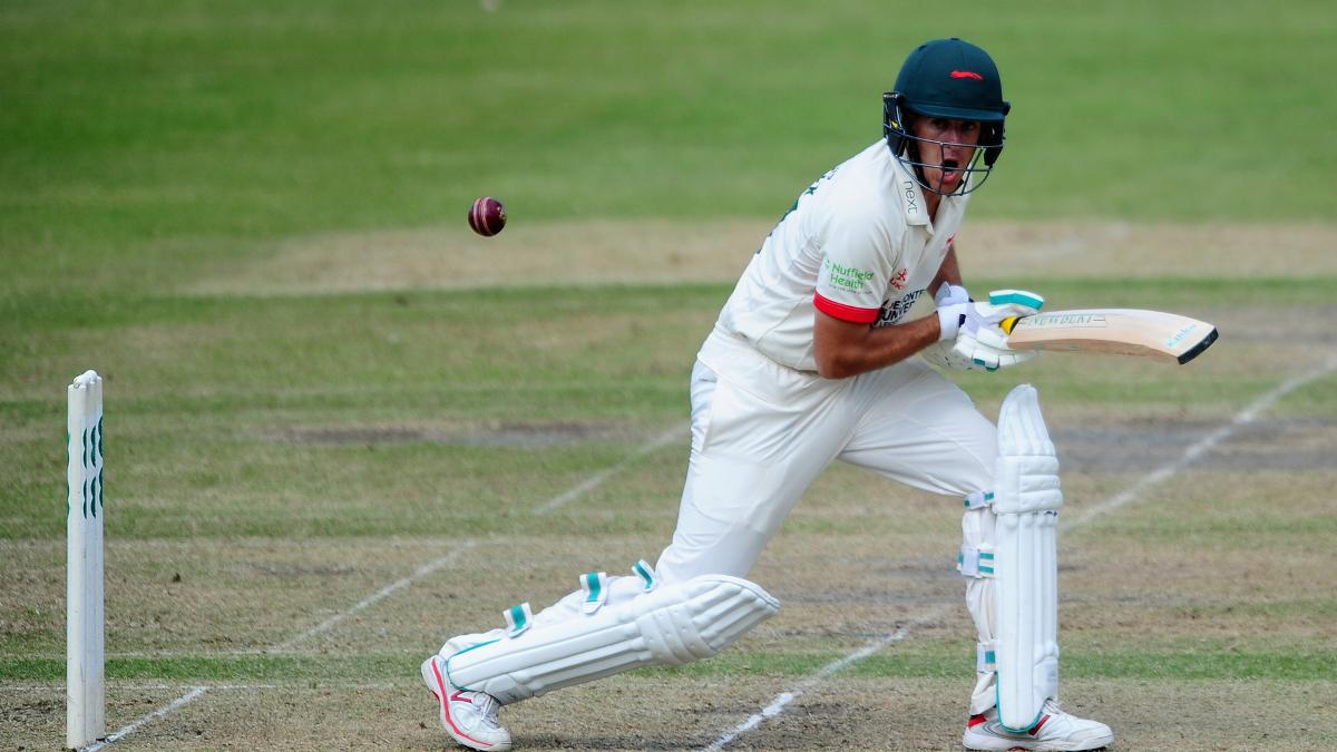 Neil Dexter's unbeaten 102 was the highlight of a positive day for Leicestershire