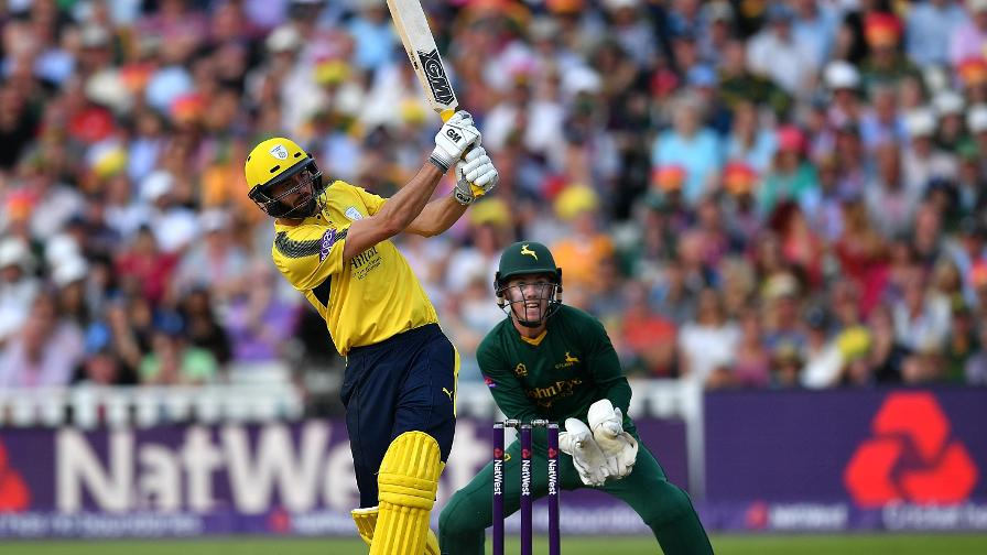 James Vince in action for Hampshire at NatWest T20 Blast Finals Day