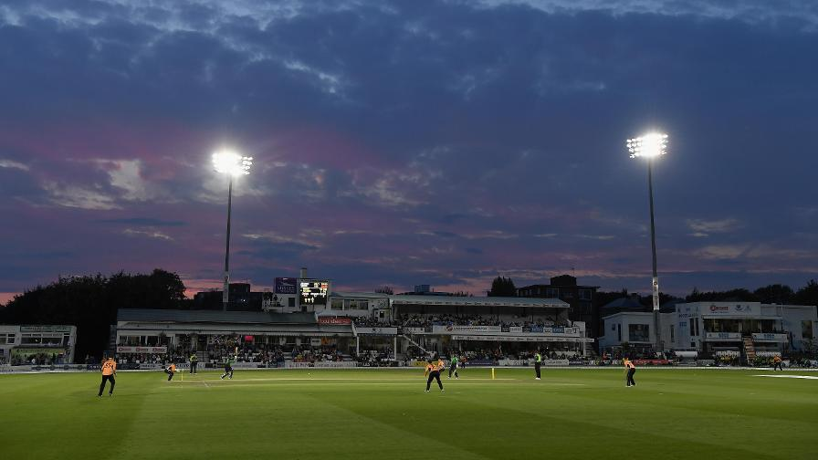 The 1st Central County Ground lights up for the tournament decider