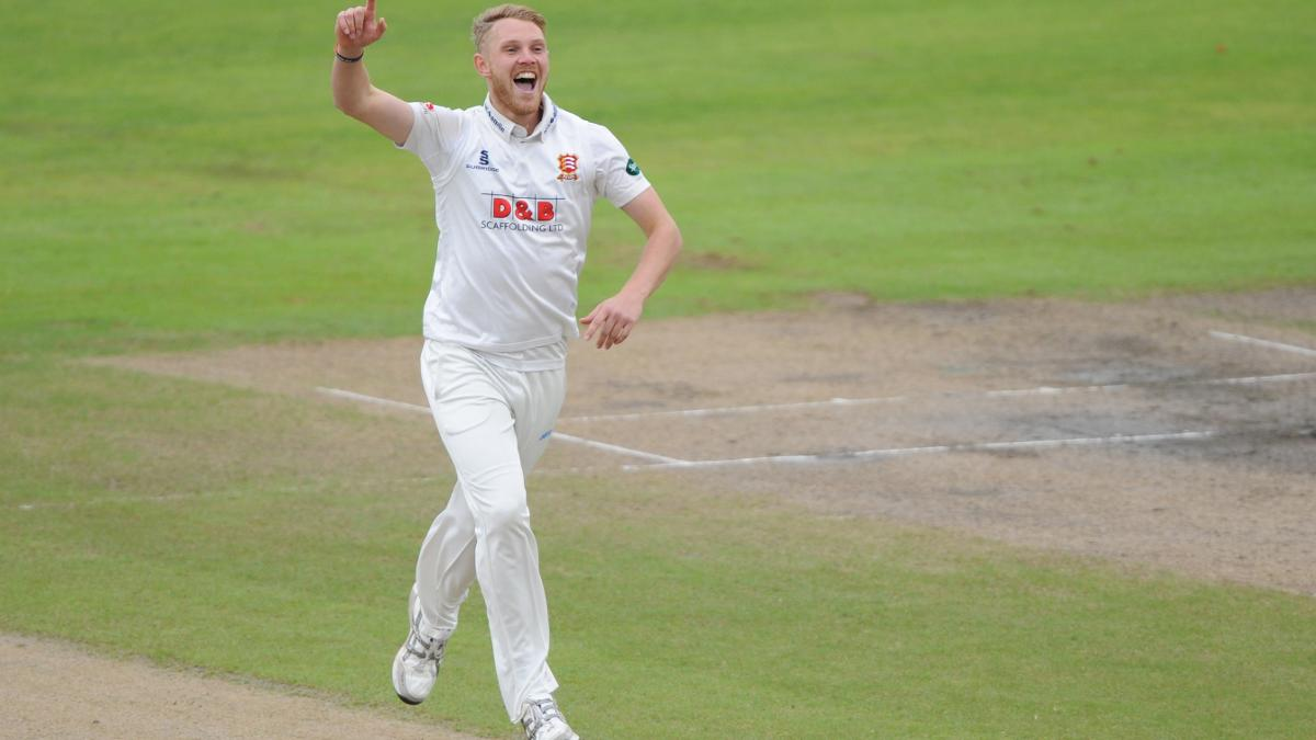 FIVE ALIVE - Jamie Porter celebrates his fifth five-wicket haul of the season