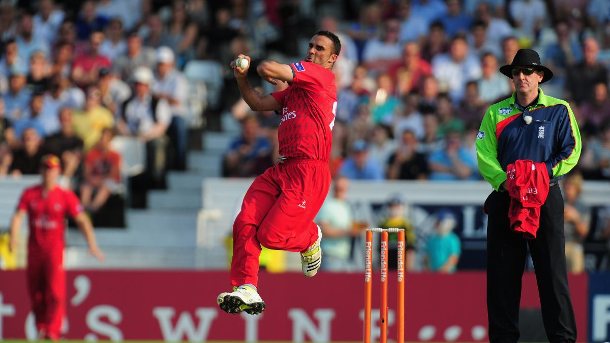 Kabir Ali in action for Lancashire