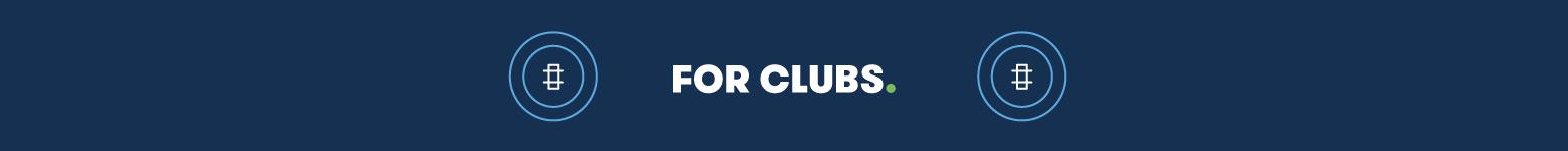 For the clubs on a dark blue background