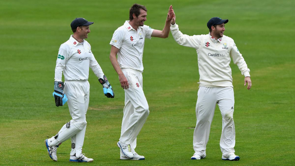 Michael Hogan starred for Glamorgan with four wickets