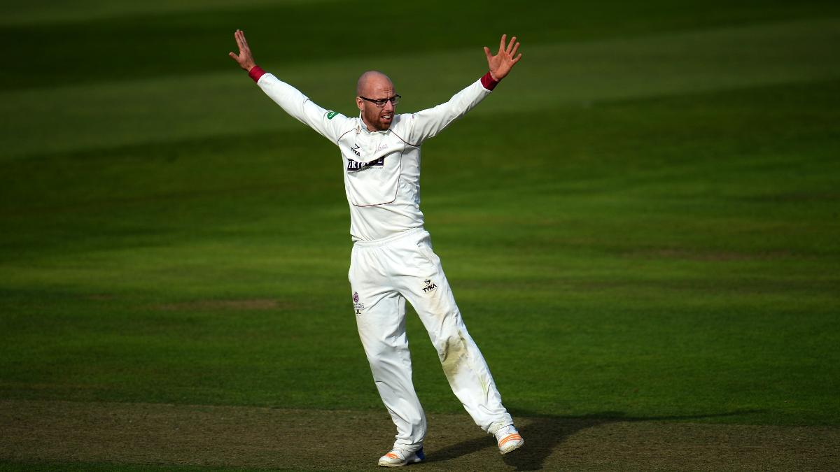 Jack Leach's arms were aloft on many occasions on day two