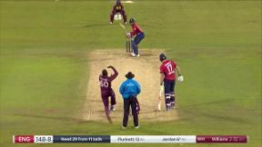 Jordan wicket - c Powell b Williams