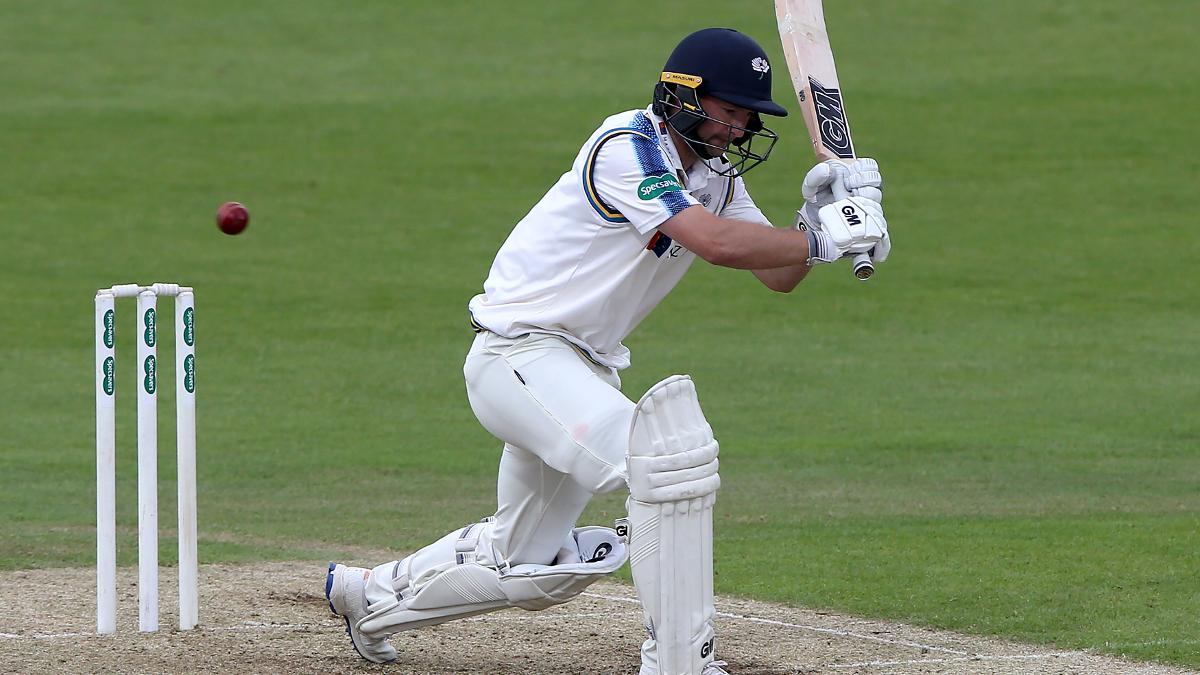 Adam Lyth hit 62 on his return to the Yorkshire side