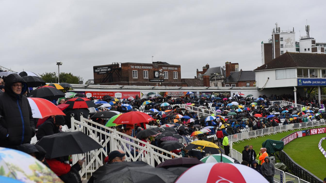 CROWD COVER - The brollies are going nowhere at Trent Bridge