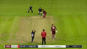 Nurse wicket - lbw Rashid