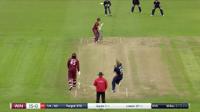 Lewis wicket - c Ali b Willey