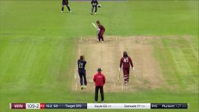 Samuels wicket - c Buttler b Plunkett