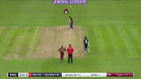 Woakes wicket - c Powell b Taylor