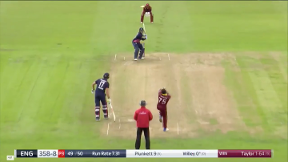 Plunkett wicket - (run out) Taylor