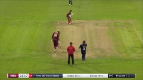 Bishoo wicket - c Morgan b Plunkett
