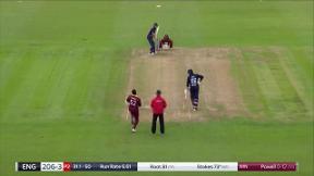 Stokes wicket - c Lewis b Powell