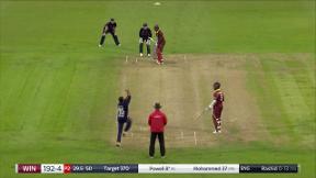 Powell wicket - c Woakes b Rashid