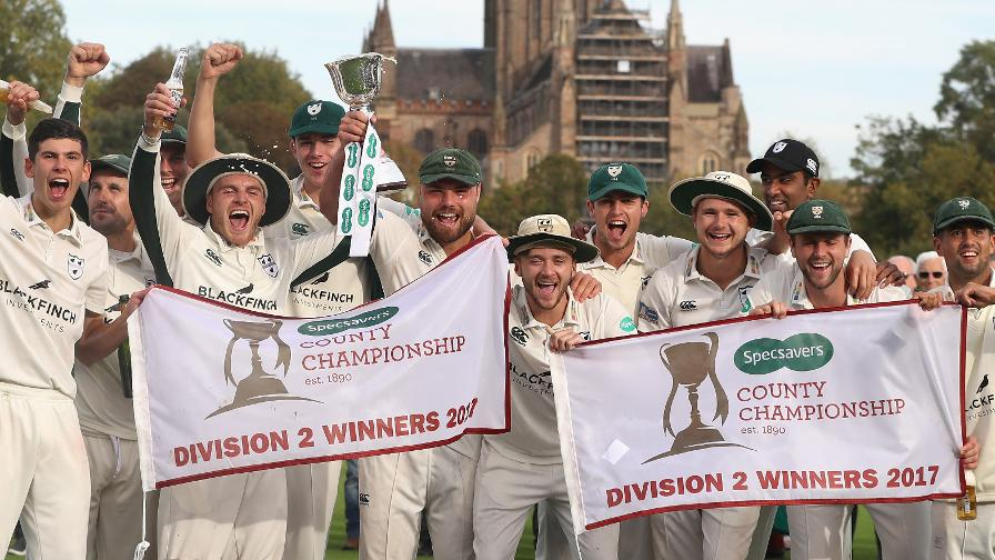Worcestershire CCC - Division two winners 2017