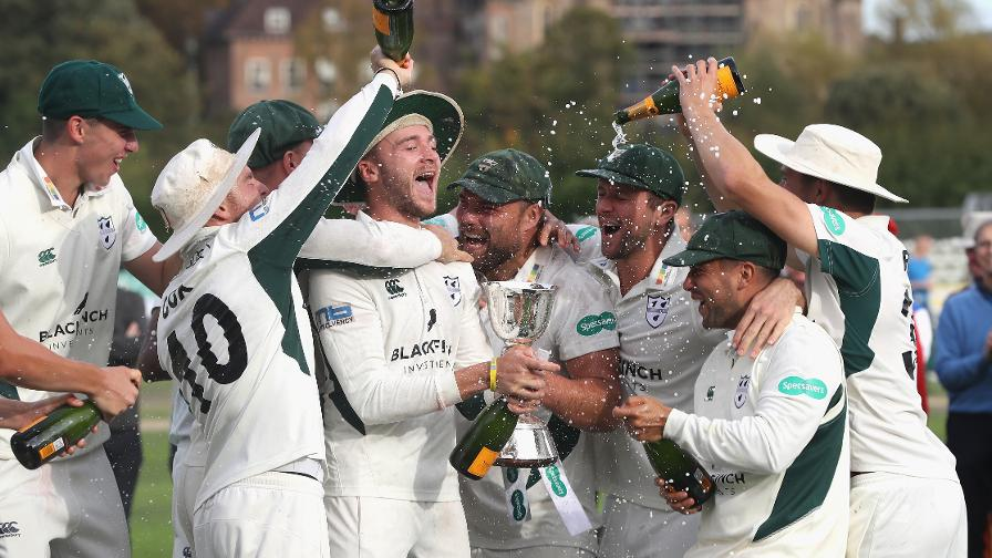 Get the party started - Worcestershire celebrate their Division Two triumph