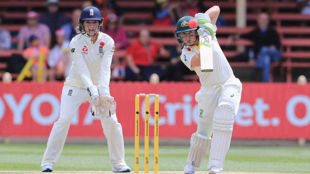Alyssa Healy hit the first and second sixes of the Test
