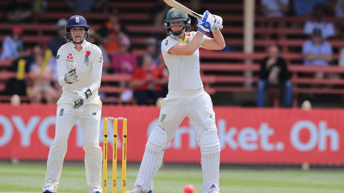 Ellyse Perry made her first international century and finished the innings 213 not out