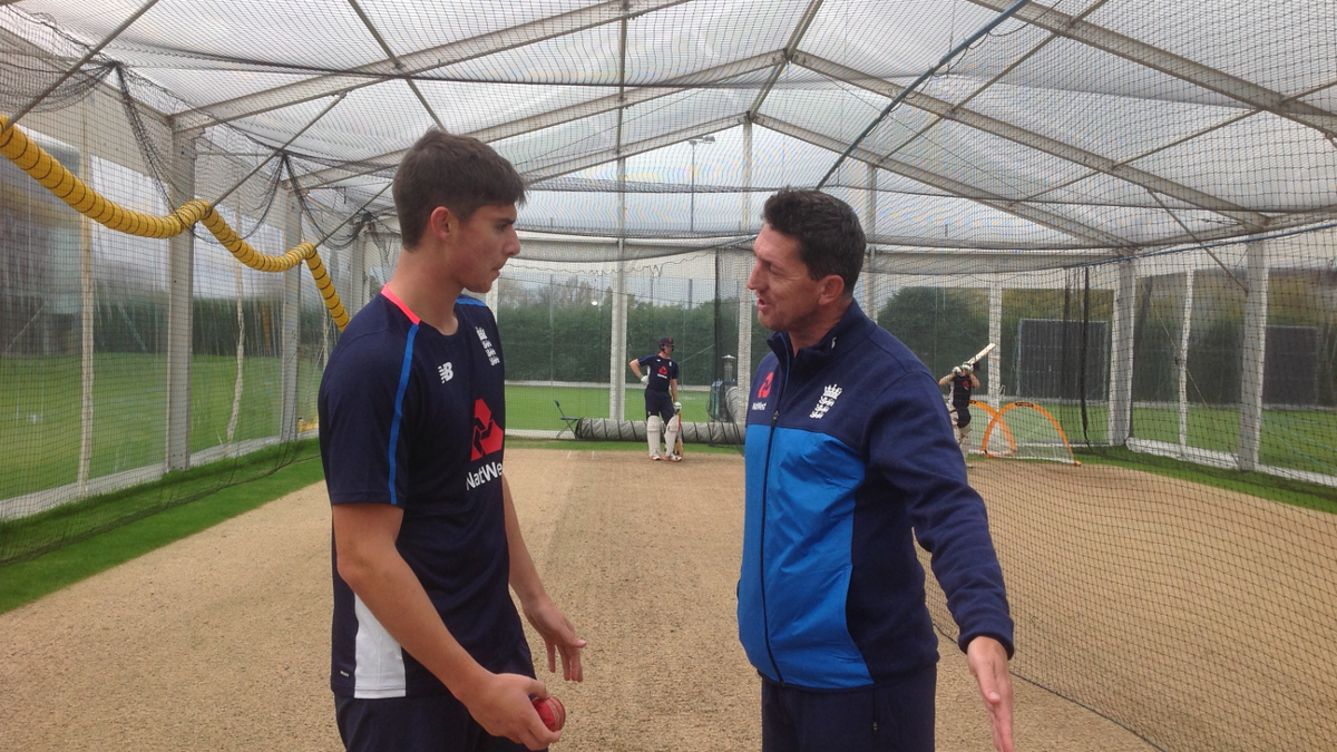 Jon Lewis chats with Josh Tongue at Loughborough
