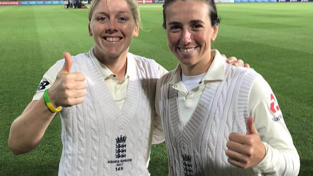 THUMBS-UP – Heather and Georgia were rock solid for us on the final day of the Test