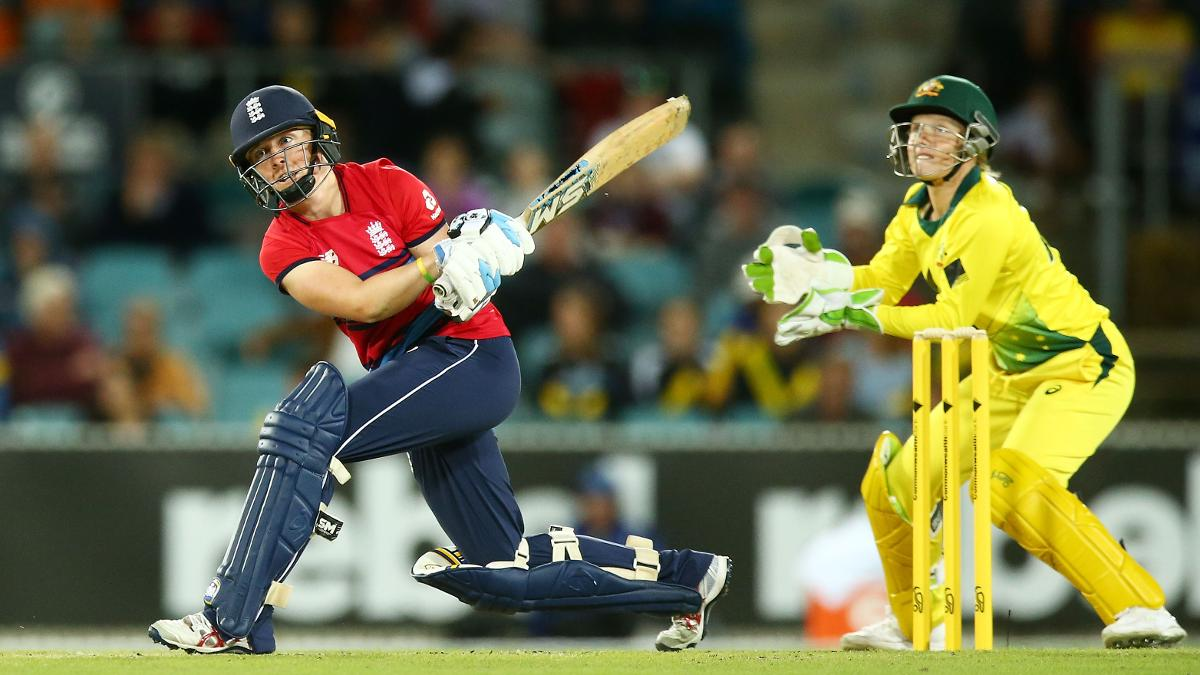 Captain Heather Knight played a key role in securing the win on an entertaining evening in Canberra