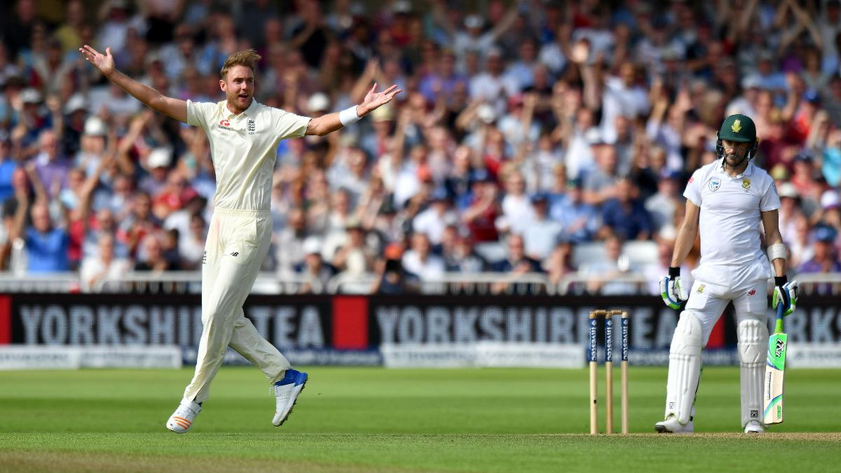 Stuart Broad appeals against South Africa