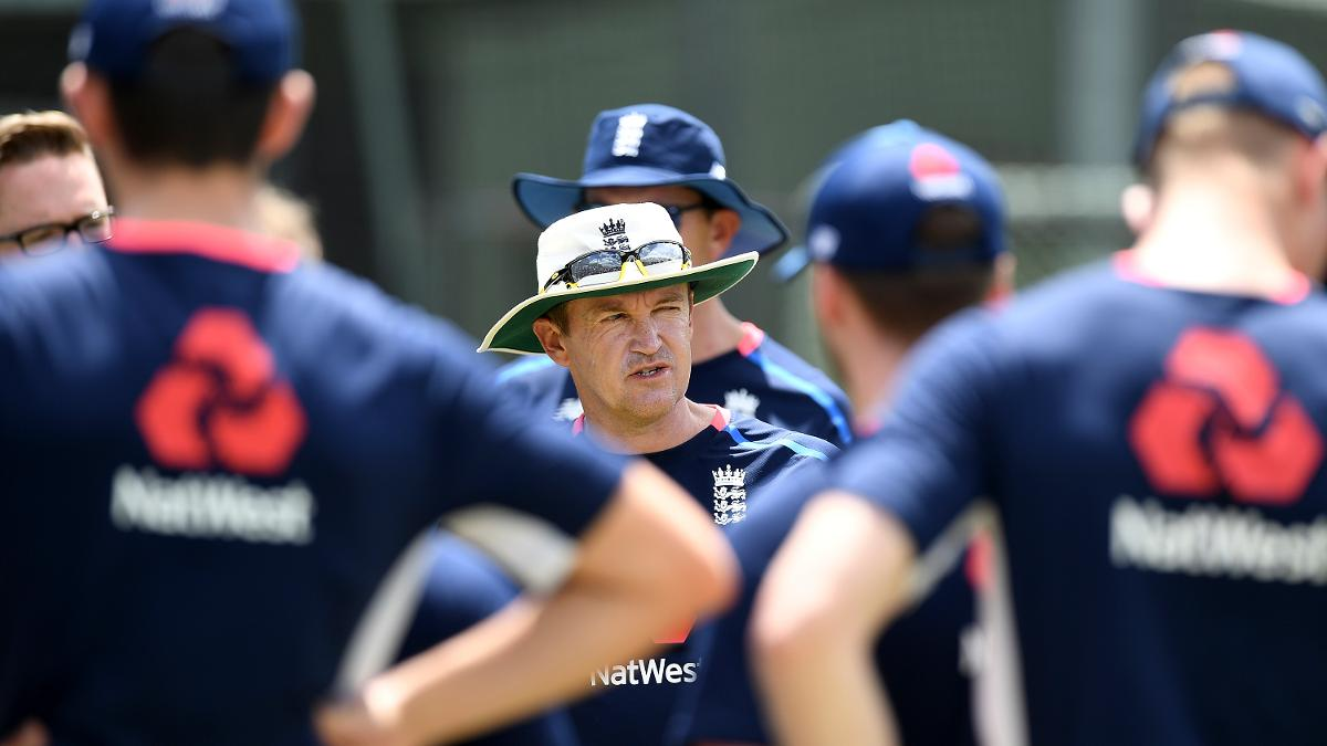 Andy Flower addresses the England Lions squad