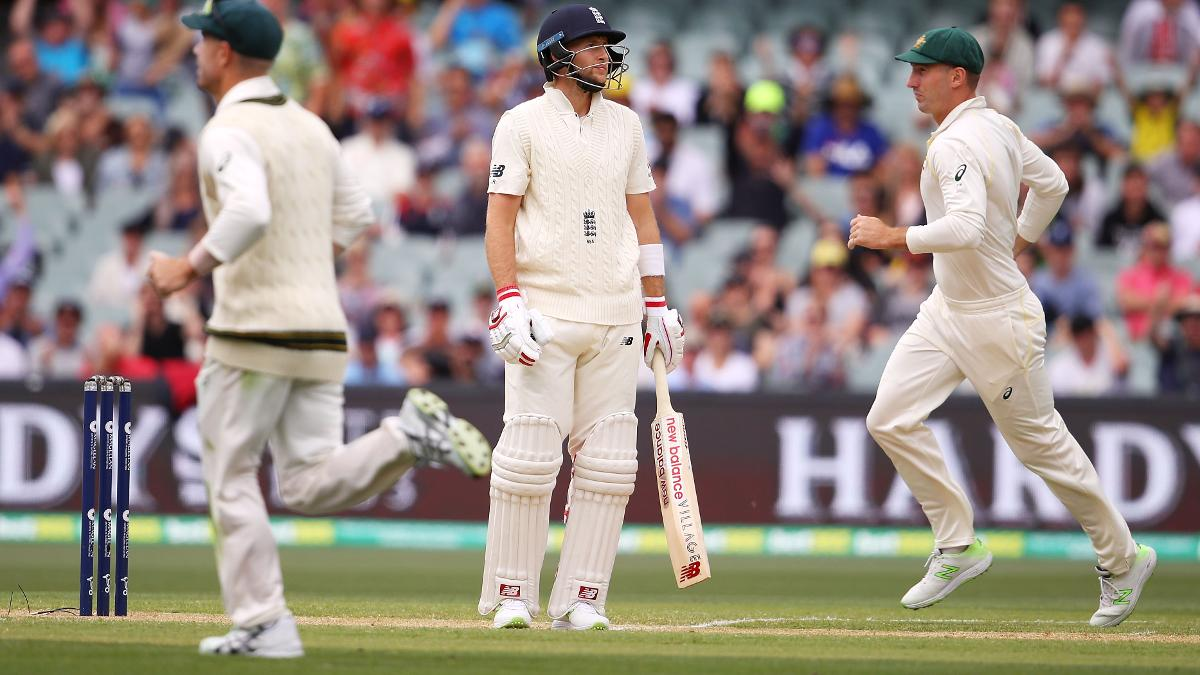 England captain Joe Root was dismissed for nine