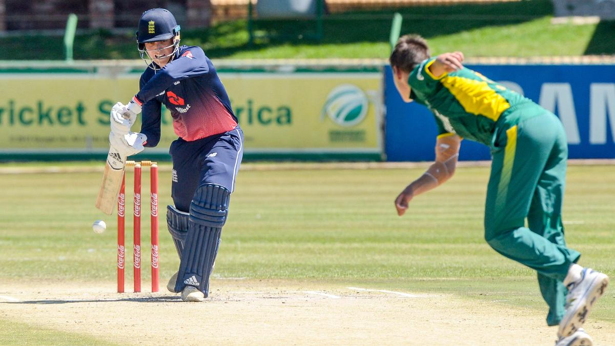 Tom Banton of England in action against South Africa U19