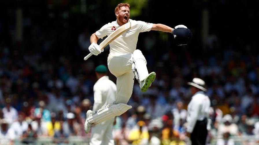 Bairstow clips the ball into the legside and sets off for his 100th run. Cue wonderful celebrations.