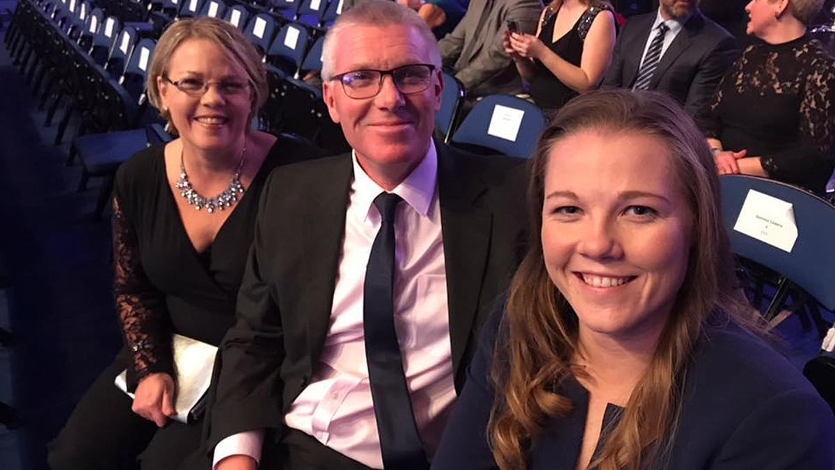Family time –BBC Sports Personality of the Year nominee Anya Shrubsole with her parents
