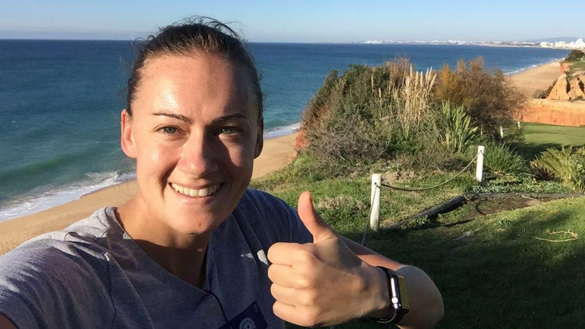 Laura Marsh is a regular Christmas Day runner