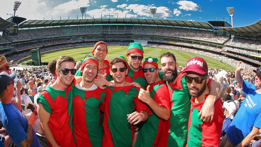 The is always plenty of colourful sights at the Boxing Day Test