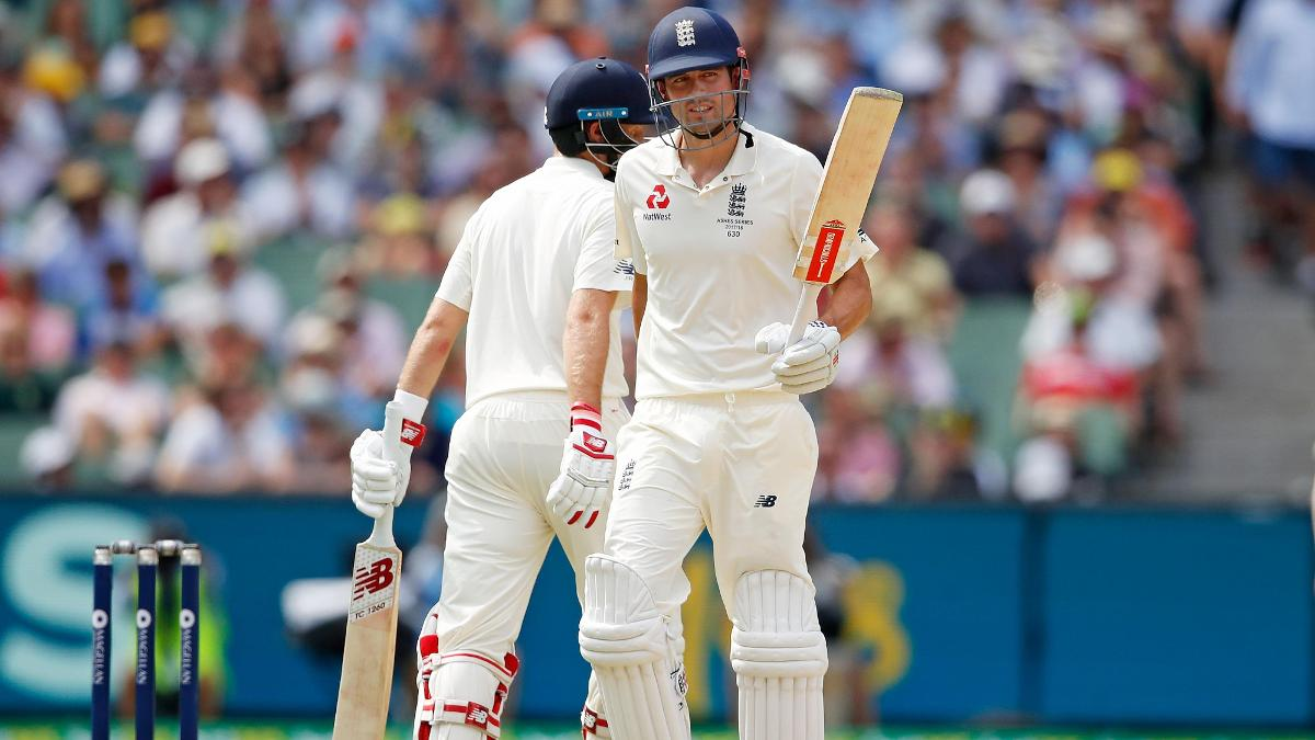 Alastair Cook scored his first century in Australia since the 2010/11 Ashes
