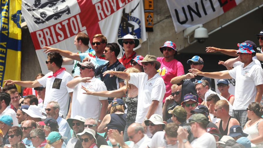 FUN IN THE SUN - The Barmy Army are in full force
