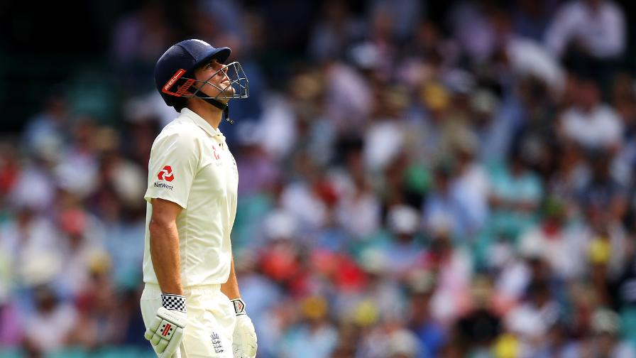 Alastair Cook is dismissed on DRS