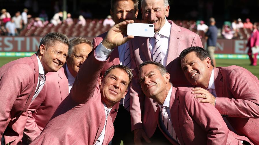 SPICE BOYS - Shane Warne & the Channel 9 team looking sharp
