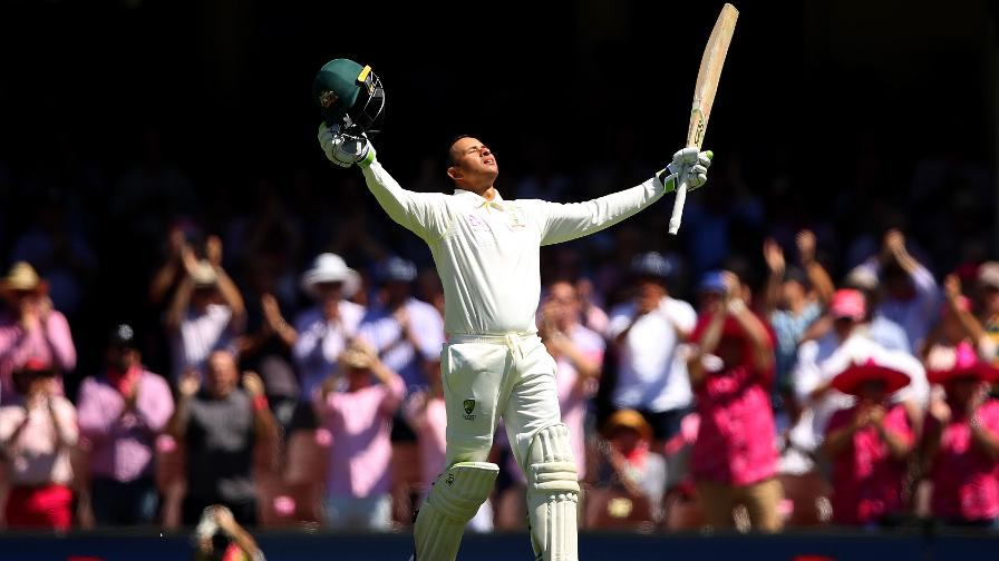 STORY OF US - Khawaja celebrates reaching an excellent century