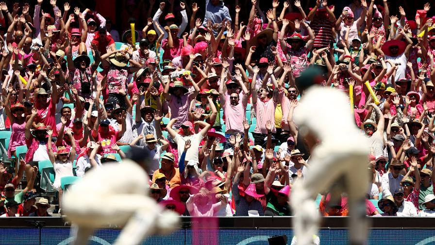 SLOW GOING - The fans are in Mexican Wave mode at the SCG