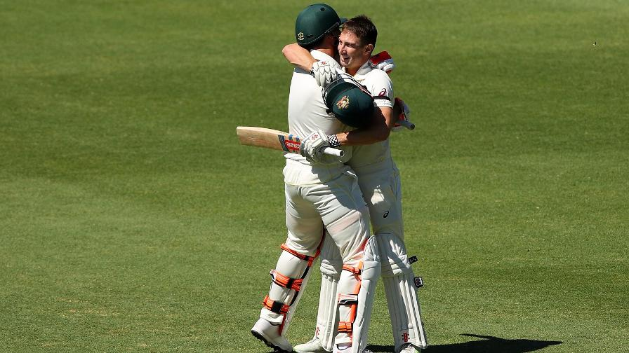 Brothers Shaun and Mitchell Marsh both scored centuries on day four