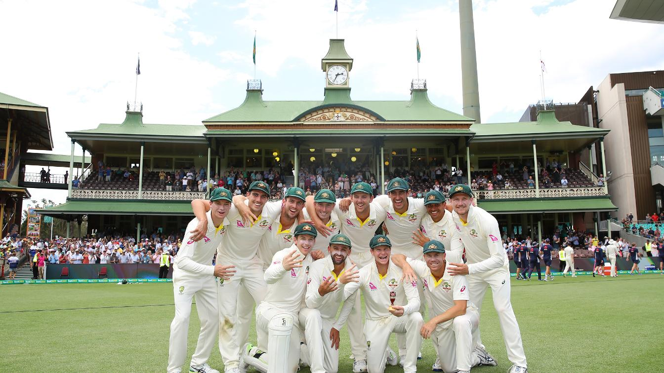 AUSSIES RULE - The hosts regain the Ashes with a 4-0 series win