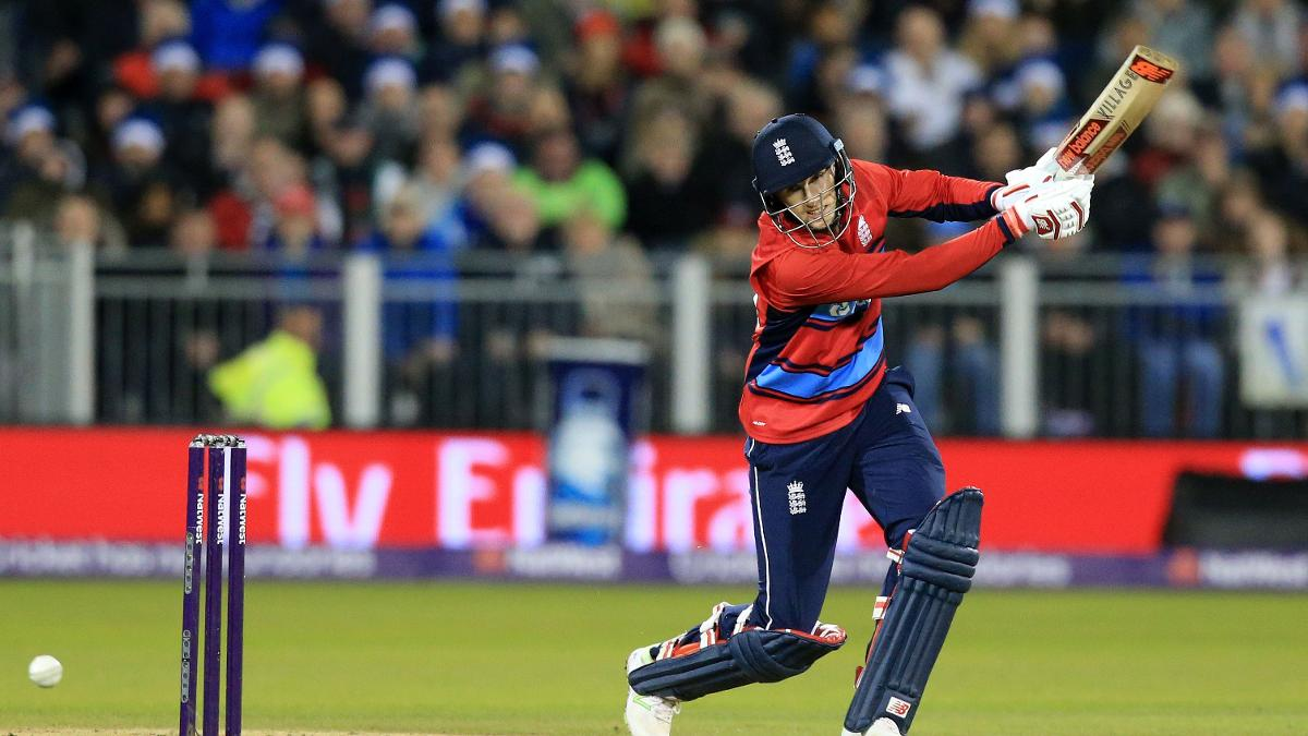 Joe Root in T20 action for England
