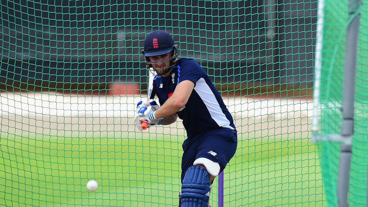 Liam Livingstone in the nets with England Lions