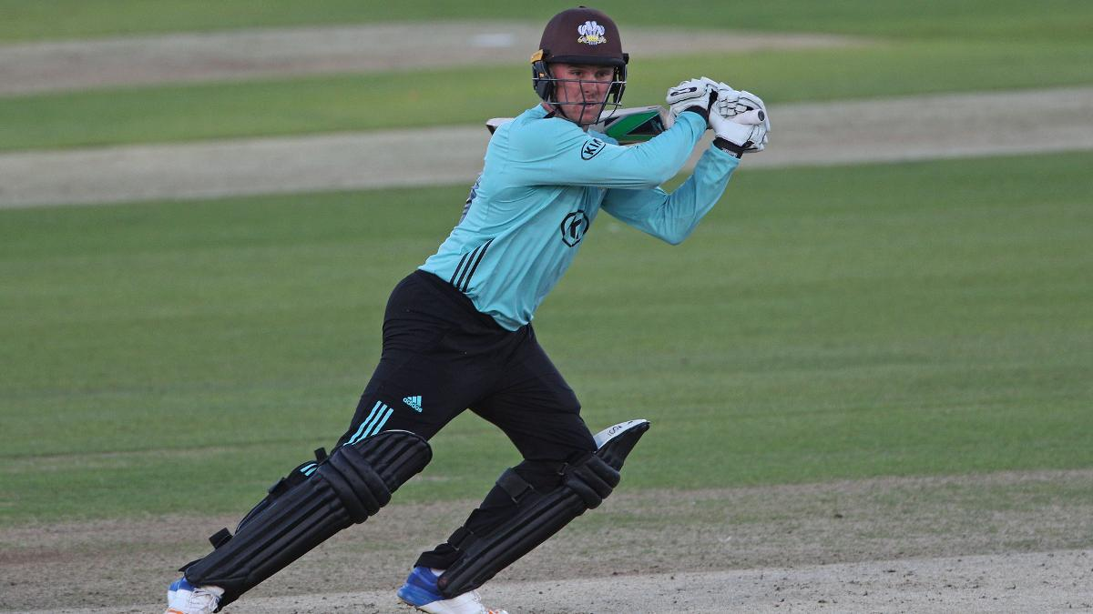 Jason Roy in T20 Blast action