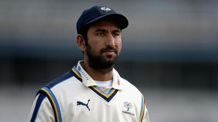 Yorkshire sign Pujara