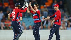 Best of England's T20 warm-up - Liam Dawson's caught and bowled