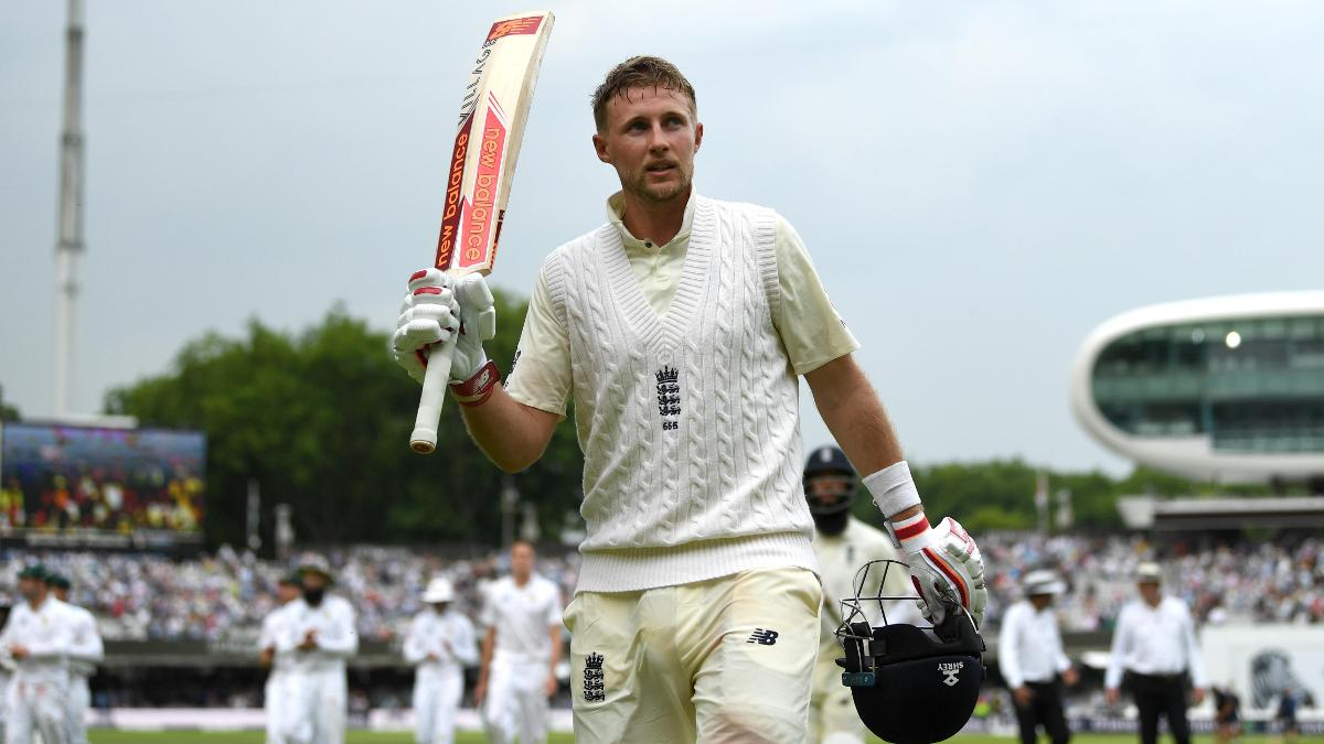 Joe Root salutes the crowd at Lord's