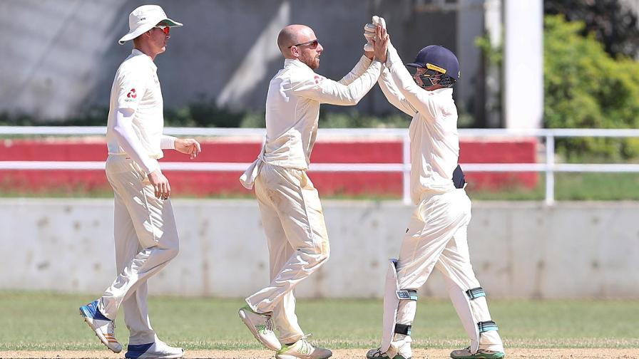 Six wickets for Leach as Windies 'A' extend lead