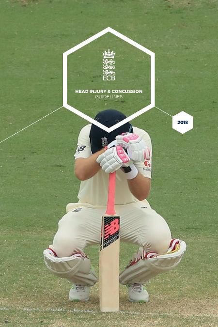 Concussion in cricket has new guidelines. Joe Root kneeling down whilst playing for England